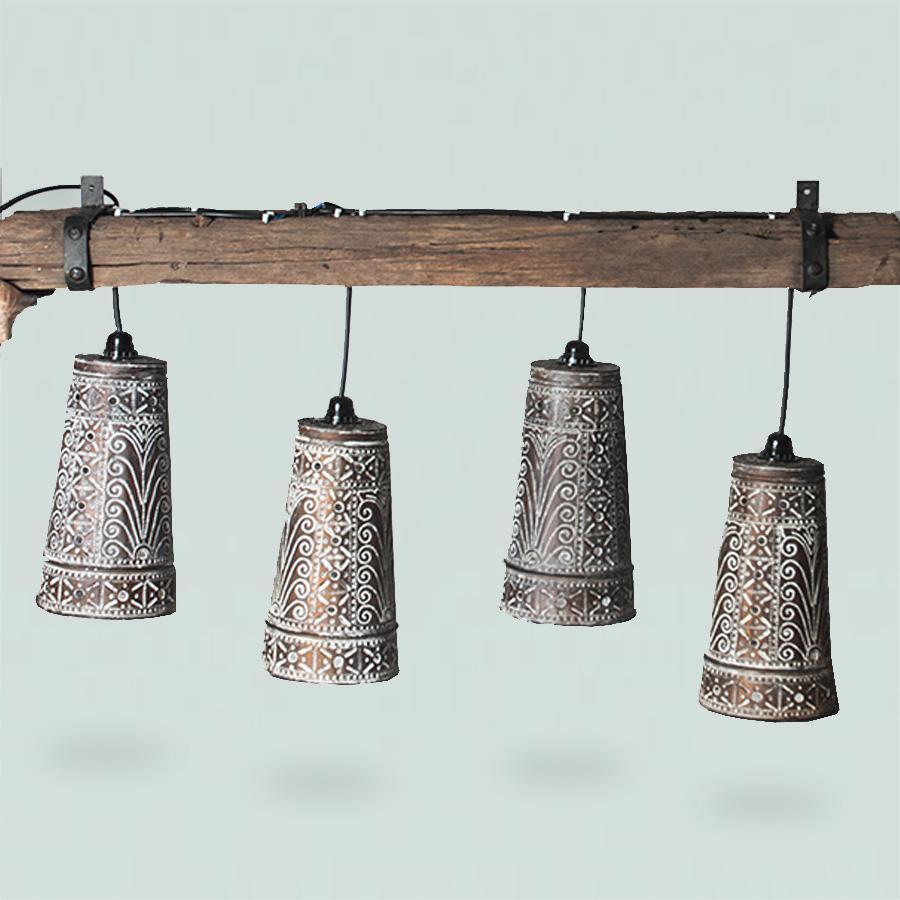 Bokor Lamp 4 pcs with Bar