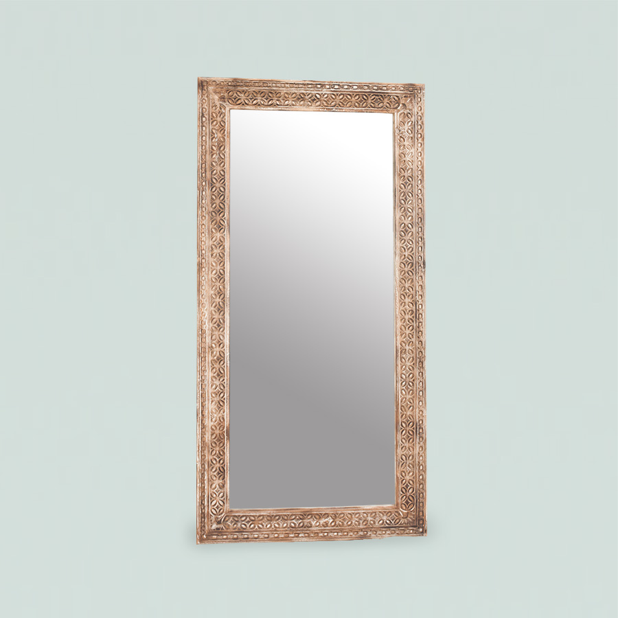 Frame Mirror Kawung