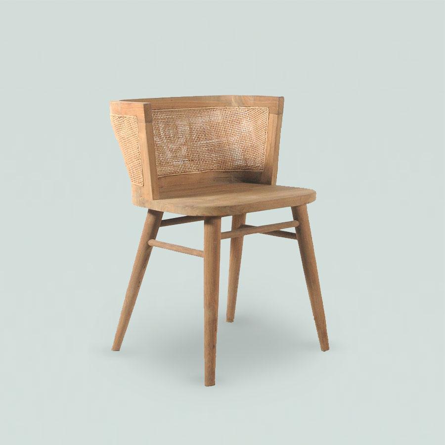 Leno Retro Chair Ram Polos Grey